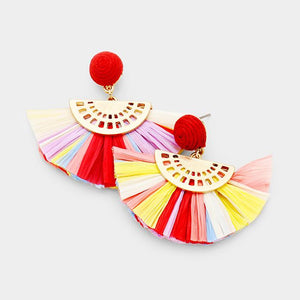 Night Of Dancing Paper Tassel Earrings