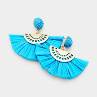 Ocean Waves Paper Tassel Earring