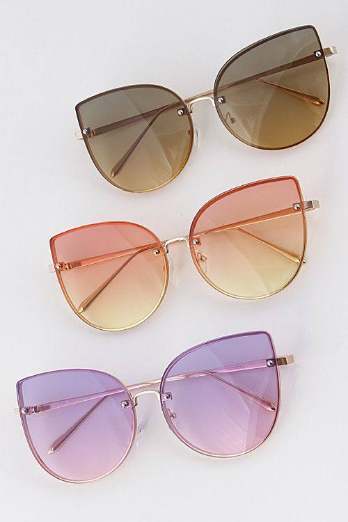 Shades - Good Vibes Only Cat Eye Sunglasses