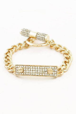 Pave City Lights Link Bracelet