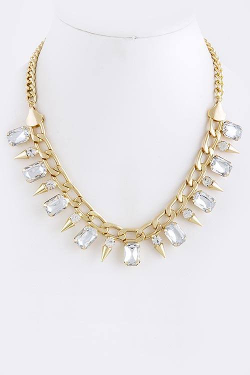 Statement Necklace - Rocking Crystals Necklace