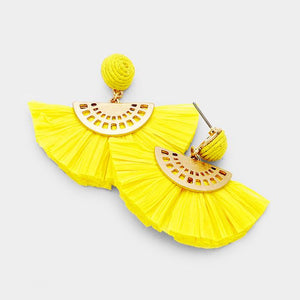 Sunflower Dreams Paper Tassel Earrings