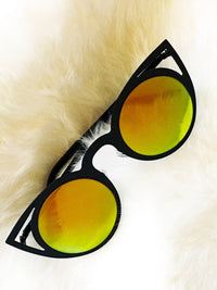 Sunglasses - Reflective Light Cat Eye Sunnies