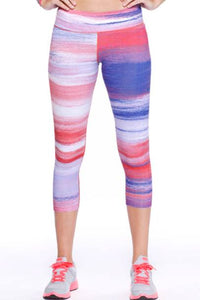 Yoga Leggings - Summer Sunset Capri