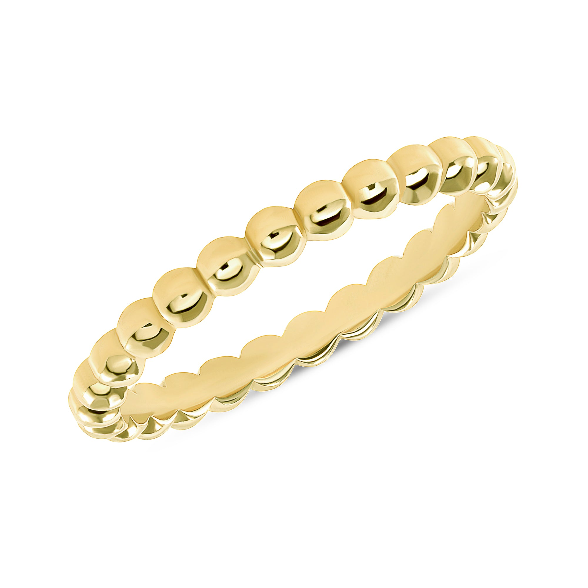 14K Yellow Gold Bubble Ring