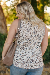 Tanks A Lot Leopard Print Sleeveless Top