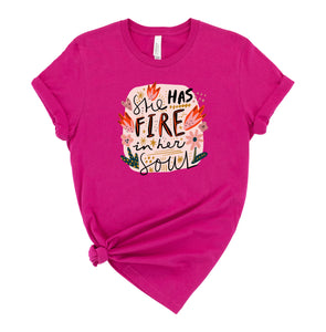 She has Fire in her Soul Graphic T-Shirt