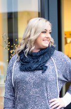 Load image into Gallery viewer, All Tied Up In You Soft Infinity Scarf In Navy