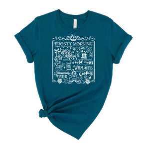 Frosting Morning Subway Art Graphic T-Shirt