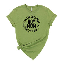 Load image into Gallery viewer, Boy Mom All Day Everyday Graphic T-Shirt