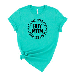 Boy Mom All Day Everyday Graphic T-Shirt