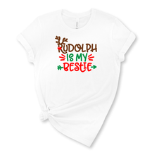 Load image into Gallery viewer, Rudolph is my Bestie Graphic T-Shirt