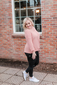Color Me Impressed Top In Bashful Pink
