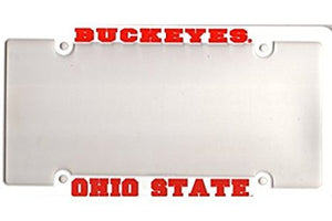 Ohio State Buckeyes White Plastic License Plate Frame