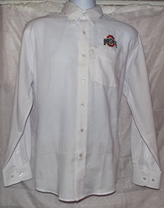 Cutter & Buck Ohio State Buckeye Button Up Dress Shirt - White