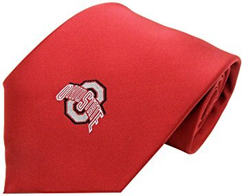 Ohio State Buckeyes Men's Solid Red Necktie w/ Athletic Logo