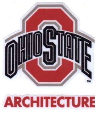 Ohio State University Architecture Window Decal