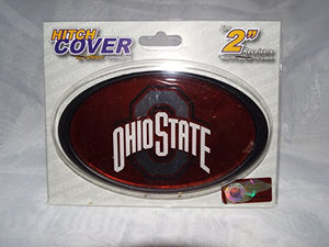 Ohio State Buckeye Red Plastic Hitch Cover