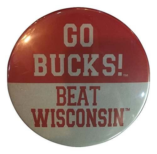2 Pack - Ohio State Buckeyes Gameday Button, Go Bucks! Beat Wisconsin (2 Pack)