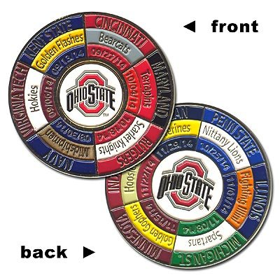 Ohio State Buckeyes 2014 Game Day Schedule Coin