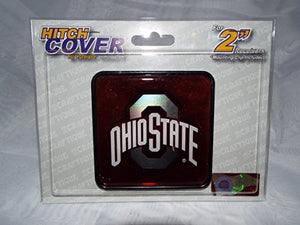 Ohio State Buckeye Square Plastic Hitch Cover