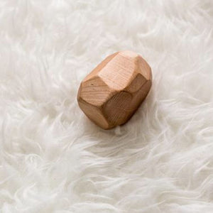 Maple Geode - Wood Baby Rattle