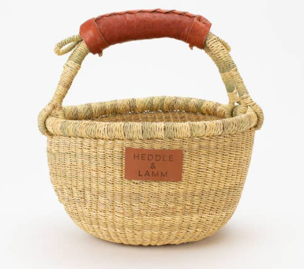 Sustainable Easter basket. Bolga basket perfect for baby's first Easter