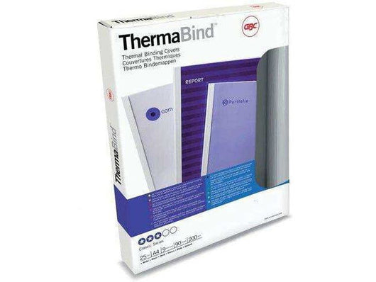ThermaBind Covers Trans Front Silk White Back 12mm (110 Sheets) Box 25 - Bigoffice.co.za