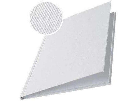 Hard Cover 10.5mm Linen Look A4 Pk of 10 White - Bigoffice.co.za