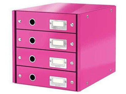 Leitz Drawer Cabinet 4 Drawers Pink - Bigoffice.co.za