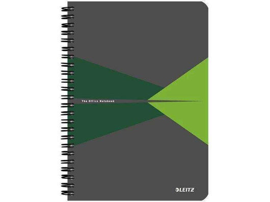 Leitz Office N/book A5 Ruled Lam Card Covered 6 in a box Green - Bigoffice.co.za