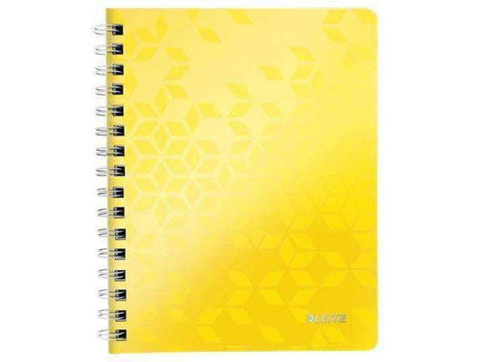 Leitz WOW N/book A4 Ruled Perforated Punched 6 in a box Yellow - Bigoffice.co.za
