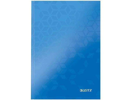 Leitz WOW N/book A5 Ruled Perforated Punched 6 in a box Blue - Bigoffice.co.za