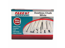CHALK DUSTLESS BOX 100 WHITE - Bigoffice.co.za