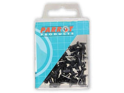 PUSH PINS CARDED PACK 30 BLACK - Bigoffice.co.za