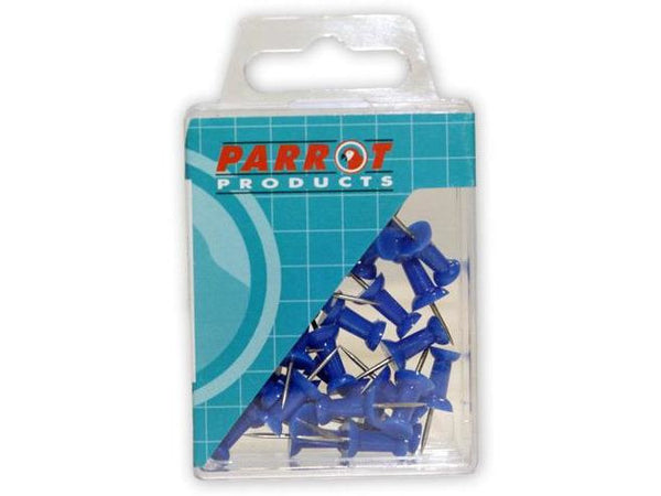 PUSH PINS CARDED PACK 30 BLUE - Bigoffice.co.za