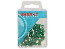 PUSH PINS CARDED PACK 30 GREEN - Bigoffice.co.za