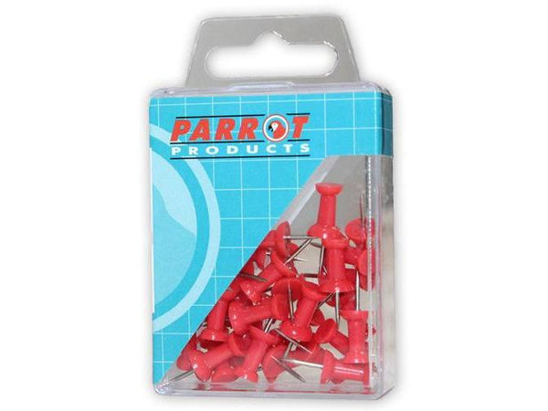 PUSH PINS CARDED PACK 30 RED - Bigoffice.co.za