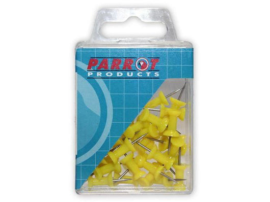 PUSH PINS CARDED PACK 30 YELLOW - Bigoffice.co.za