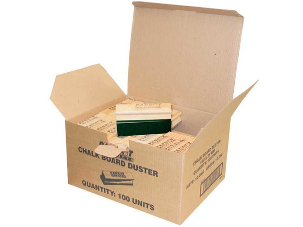 DUSTER WOOD CHALK BOARD 150*35MM Boxed 100 GREEN - Bigoffice.co.za