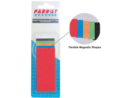 MAGNETIC FLEXIBLE SHAPES 15MM (50 PACK) ASSORTED - Bigoffice.co.za