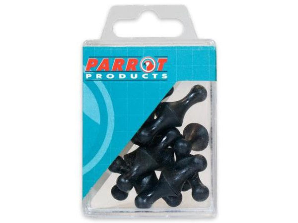 MAGNETS MAP PINS (25/BOX) BLACK 16mm - Bigoffice.co.za