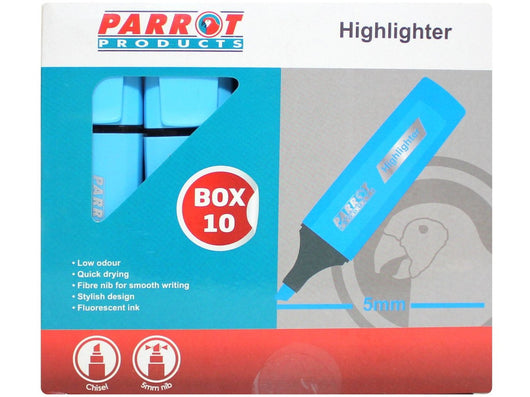 MARKER HIGHLIGHTER BOX 10 BLUE - Bigoffice.co.za