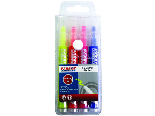 MARKER HIGHLIGHTER SLIMLINE POUCH 4 - Bigoffice.co.za