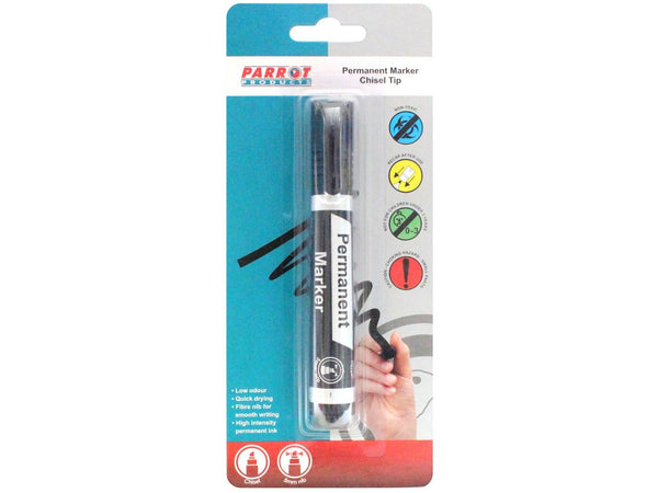 MARKER PERMANENT CHISEL SINGLE BLACK - Bigoffice.co.za