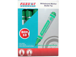MARKER WHITEBOARD BULLET BOX 10 GREEN - Bigoffice.co.za