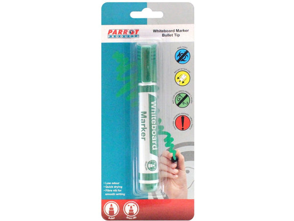 MARKER WHITEBOARD BULLET CARDED GREEN - Bigoffice.co.za