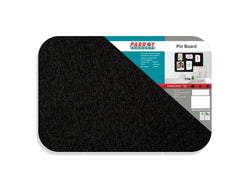 PIN BOARD ADHESIVE NO FRAME 450*300MM BLACK - Bigoffice.co.za