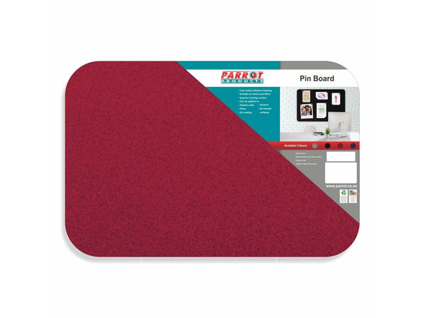 PIN BOARD ADHESIVE NO FRAME 450*300MM RED - Bigoffice.co.za