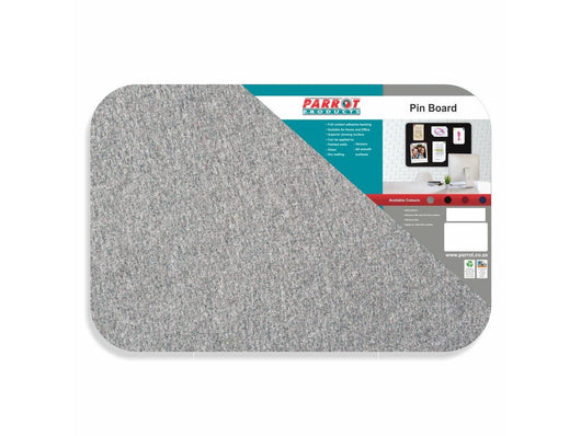 PIN BOARD ADHESIVE NO FRAME 900*600MM GREY - Bigoffice.co.za